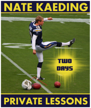 Buy Nate Kaeding 2-Day Private Lesson